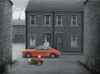Mines Faster Than Yours - Signed Limited Edition Paper Print by Leigh Lambert - Mounted And Unframed