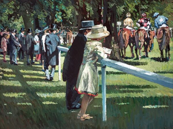 On Parade - Signed Limited Edition Hand Embellished Canvas print on Board by Sherree Valentine Daines - Unframed