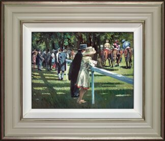 On Parade - Signed Limited Edition Hand Embellished Canvas print on Board by Sherree Valentine Daines - Framed
