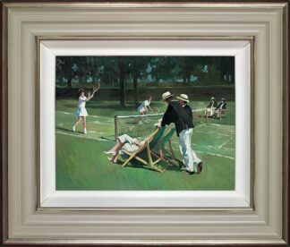 Perfect Match - Signed Limited Edition Hand Embellished Canvas print on Board by Sherree Valentine Daines - Framed