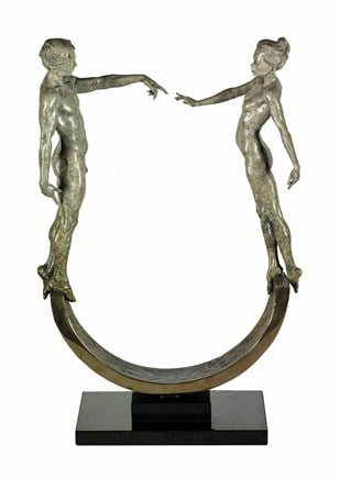 Unity - Signed Limited Edition Bronze Sculpture by Carl Payne