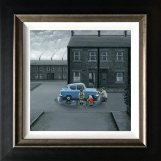 You Missed A Bit - Signed Limited Edition Canvas Print On Board by Leigh Lambert - Mounted And Framed
