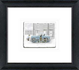 You Missed A Bit - Signed Limited Edition Paper Sketch Print by Leigh Lambert - Mounted And Framed