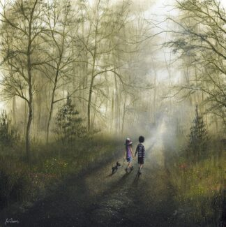 A Pleasant Stroll - Signed Limited Edition Print by Danny Abrahams - Unframed