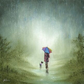 Raindrops Keep Falling On My Head - Signed Limited Edition Print by Danny Abrahams - Unframed