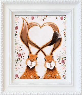 Heart Fealt - Hand Embellished Signed Limited Edition Print by Jennifer Hogwood - Mounted and Framed
