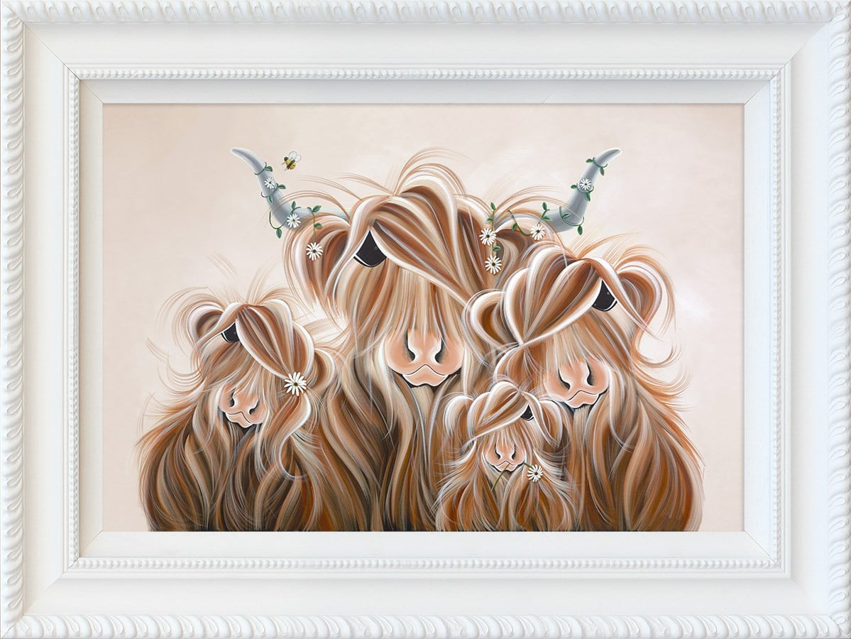 Oopsie Daisies - Hand Embellished Signed Limited Edition Print by Jennifer Hogwood - Mounted and Framed
