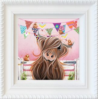 Twitter Friends - Hand Embellished Signed Limited Edition Print by Jennifer Hogwood - Mounted and Framed