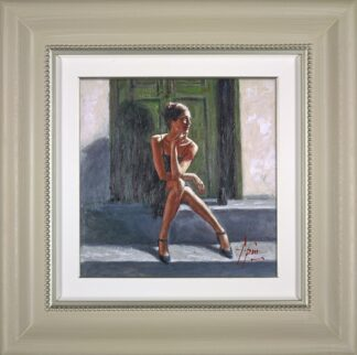 waiting for the romance to come back - Lucy - DELUXE - Hand Embellished Signed Limited Edition Print by Fabian Perez - Mounted and Framed