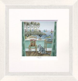 A Fishy Tale - Signed Limited Edition Paper Print by Rebecca Lardner - Mounted And Framed