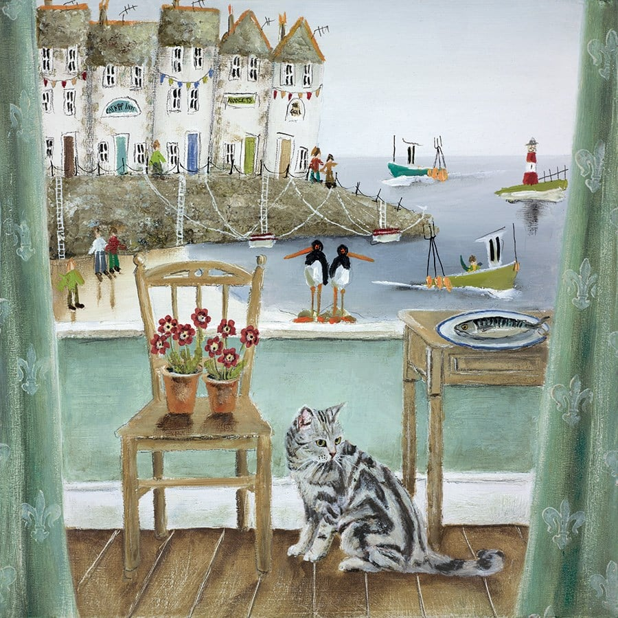 A Fishy Tale - Signed Limited Edition Paper Print by Rebecca Lardner - Mounted