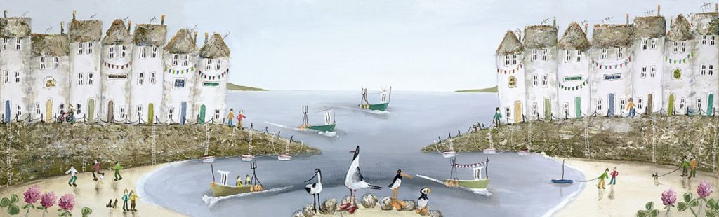 As We Set Sail - Signed Limited Edition Box Canvas by Rebecca Lardner - Unframed