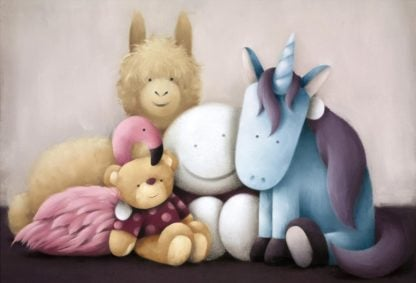 Best Friends Forever - Signed Limited Edition Paper Print by Doug Hyde - Mounted