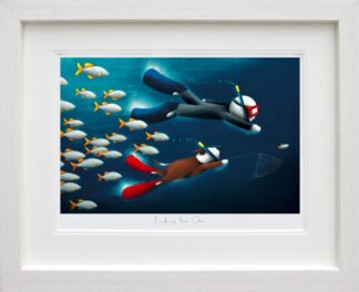 Finding The One - Signed Limited Edition paper Print by Doug Hyde - Mounted And Framed