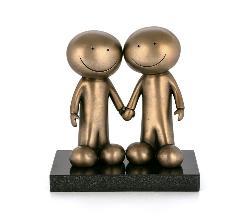 Hand In Hand - Signed Limited Edition Bronze Sculpture by Doug Hyde