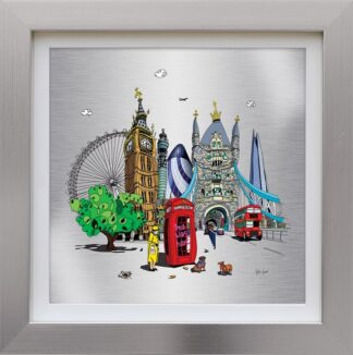 One Was Here - Signed Limited Edition Aluminium Print by Wibbly Wobbly Artist Dylan Izaak - Mounted And Framed
