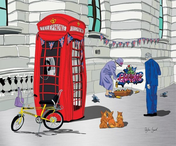 Queenie - Signed Limited Edition Aluminium Print by Wibbly Wobbly Artist Dylan Izaak