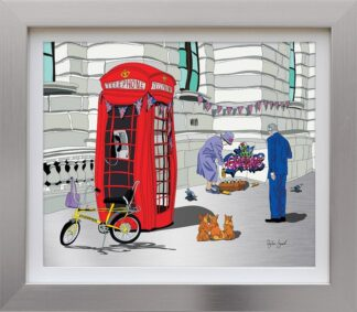 Queenie - Signed Limited Edition Aluminium Print by Wibbly Wobbly Artist Dylan Izaak - Mounted And Framed