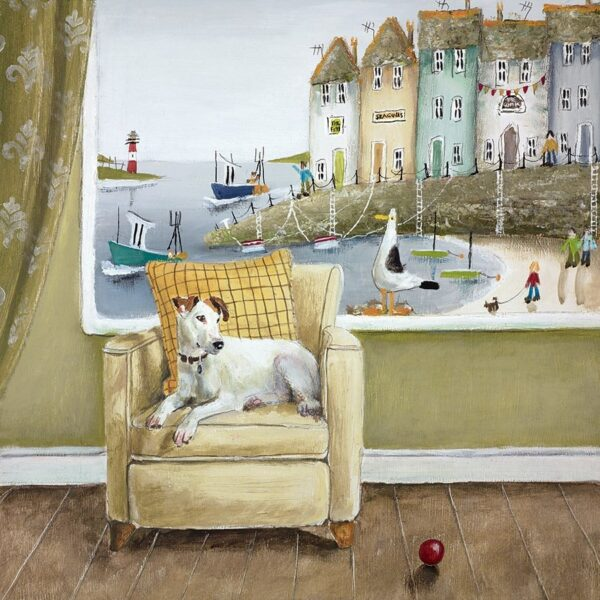 Sea Side Seat - Signed Limited Edition Paper Print by Rebecca Lardner - Mounted