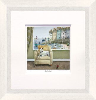Sea Side Seat - Signed Limited Edition Print by Rebecca Lardner - Mounted And Framed