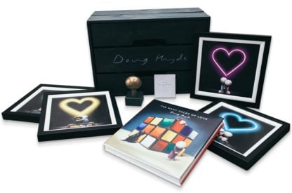 The Box Of Love - Signed Limited Edition presentation box featuring 4 framed signed limited edition prints, one bronze sculpture and a limited edition book from Doug Hyde