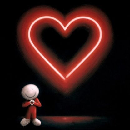 The Message Of Love - Signed Limited Edition glazed Box Canvas Print by Doug Hyde - Unframed