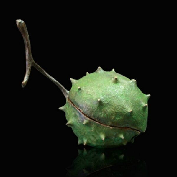 Closed Conker - Signed limited edition bronze Sculpture from Richard Cooper Art