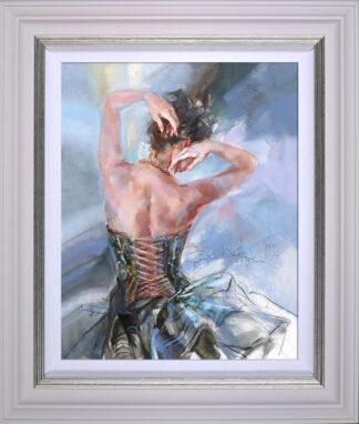 Forever Young signed limited edition hand embellished canvas on board from Anna Razumovskaya framed in the artists recommended frame