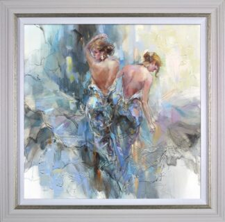 Lumi Day signed limited edition hand embellished canvas on board from Anna Razumovskaya framed in the artists recommended frame