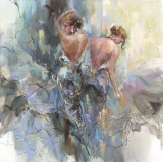 Lumi Day signed limited edition hand embellished canvas on board from Anna Razumovskaya unframed