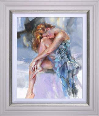 Time Goes Slowly signed limited edition hand embellished canvas on board from Anna Razumovskaya framed in the artists recommended frame