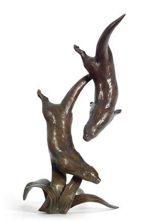 Out To Play signed limited edition bronze sculpture from Richard Cooper Art
