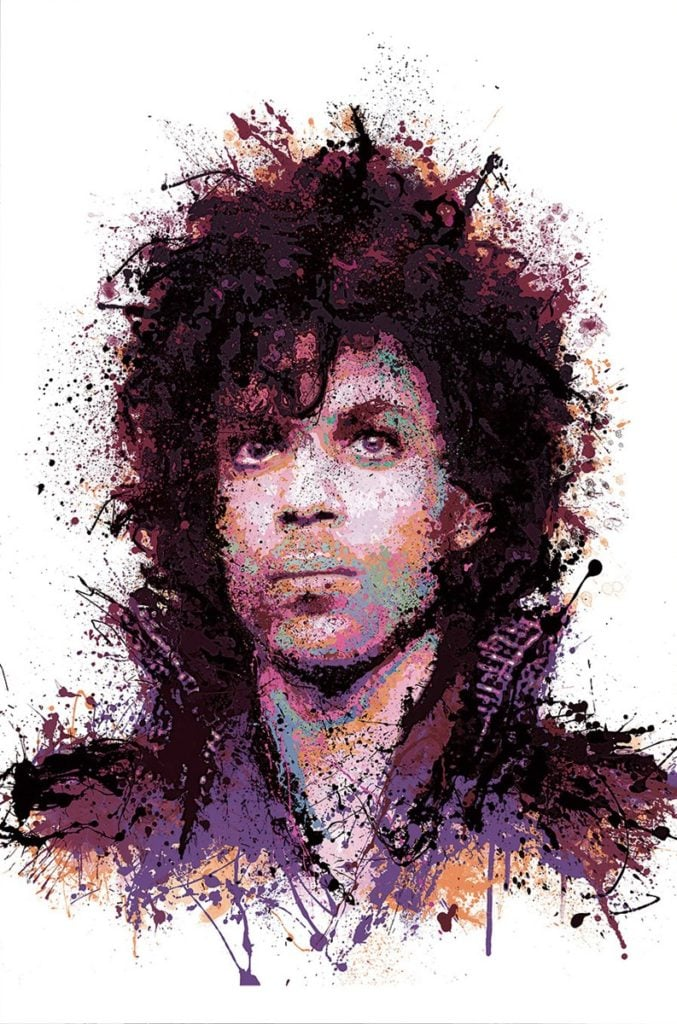 purple reign signed limited edition print from Daniel Mernagh unframed