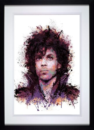 purple reign signed limited edition print from Daniel Mernagh framed in the artists recommended frame