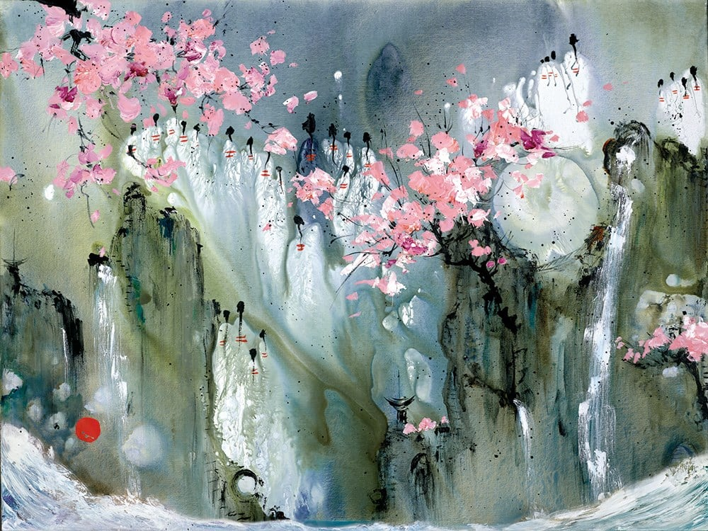 The Moon And Back - Signed limited edition glazed box canvas print from Danielle O'Connor Akiyama unframed