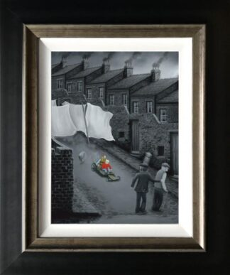 How Do We Stop This Thing signed limited edition canvas print from Leigh Lambert framed in the artists recommended frame