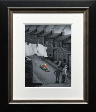 How Do We Stop This Thing signed limited edition Paper print from Leigh Lambert framed in the artists recommended frame