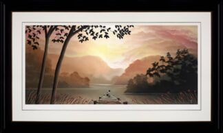 Whispering Waters signed limited edition paper print on board from Mackenzie Thorpe framed in the artists recommended frame