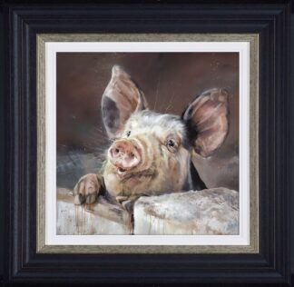 Pig Tale signed limited edition canvas print from Debbie boon - Framed in the artists recommended Frame