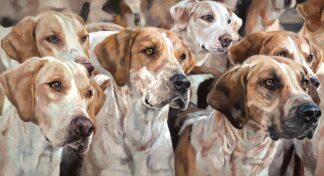 Awaiting command - Signed Limited Edition Canvas Print on Board by Debbie Boon