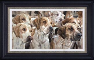 Awaiting Command signed limited edition canvas print from Debbie boon - Framed in the artists recommended Frame