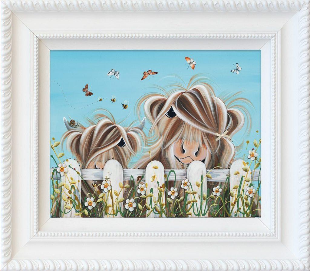 Bug Life signed limited hand embellished canvas print on board from Jennifer Hogwood - Framed in the artists recommended Frame
