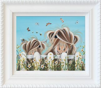 Bug Life signed limited hand embellished canvas print on board from Jennifer Hogwood - Framed in the artists recommended Frame