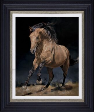 Chasing The Wind signed limited edition canvas print from Debbie boon - Framed in the artists recommended Frame