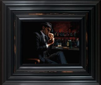 Man Lighting Cigarette signed limited canvas print on board from Fabian Perez - Framed in the artists recommended Frame