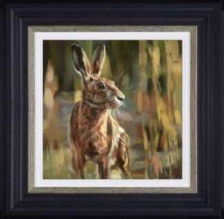 Poised For Action signed limited edition canvas print from Debbie boon - Framed in the artists recommended Frame