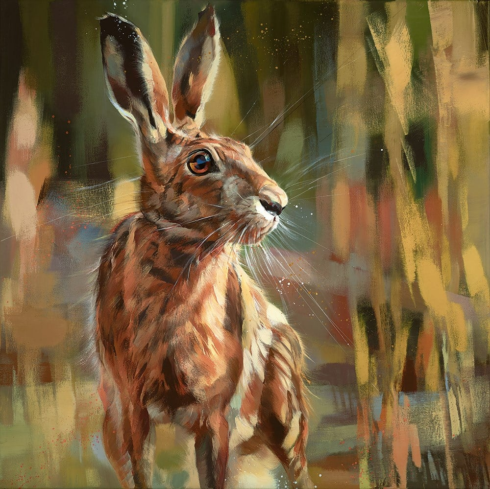 Poised For Action - Signed limited edition canvas print on board by Debbie boon
