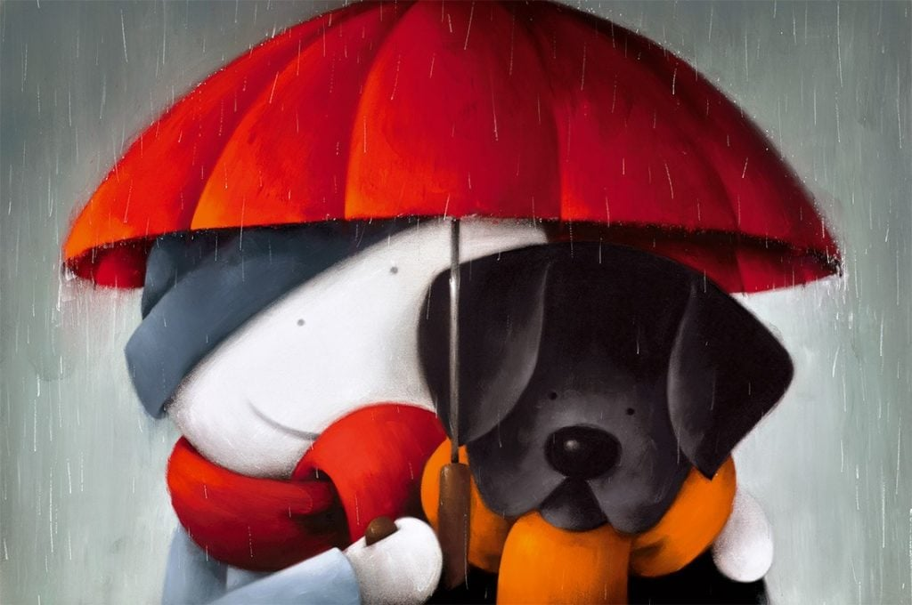Showered With Love signed limited edition paper print from Doug Hyde - unframed mounted