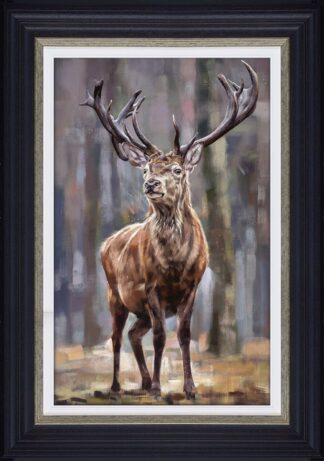 Standing Tall signed limited edition canvas print from Debbie boon - Framed in the artists recommended Frame