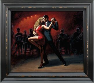 Tango En San Telmo signed limited canvas print on board from Fabian Perez - Framed in the artists recommended Frame